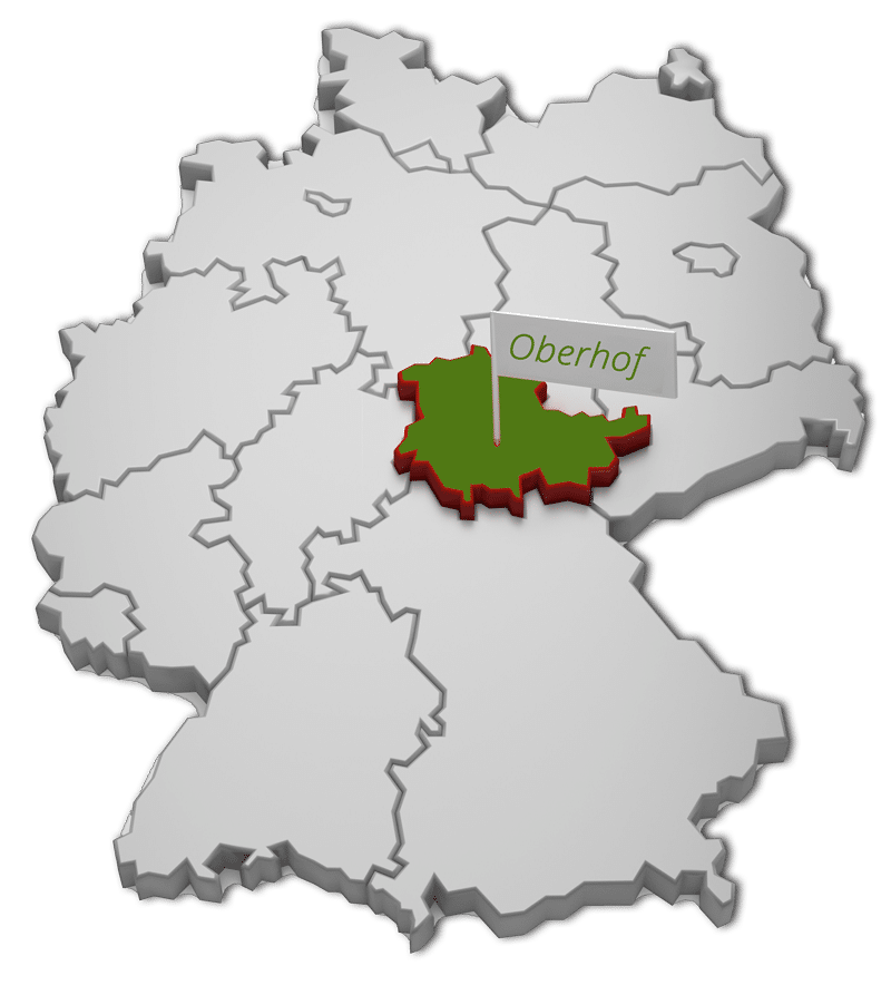 Deutschland Karte | Oberhof skizziert