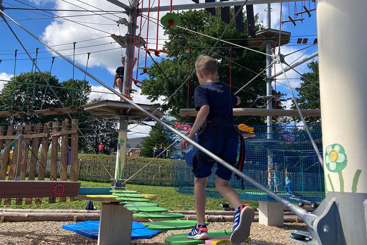 Golfkletterpark Oberhof Kinderparcours | Oberhof Hotel Urlaub im Thüringenschanze