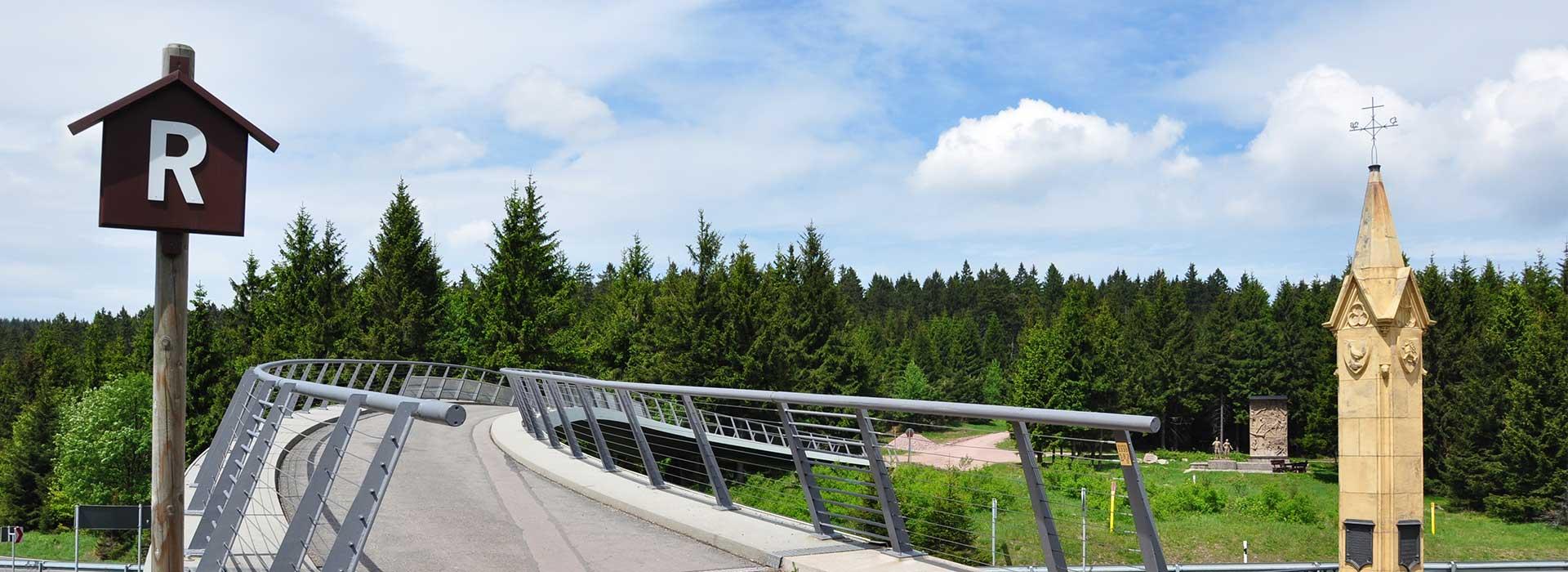 Rennsteig Übergang am Rondell bei Oberhof | Urlaub in Oberhof buchen