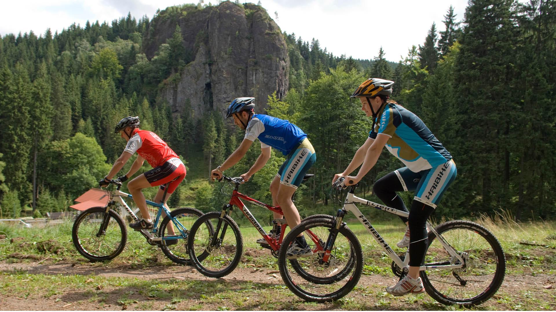 Gruppe Mountainbiker bei Oberhof | Oberhof Hotel Urlaub im Thüringenschanze