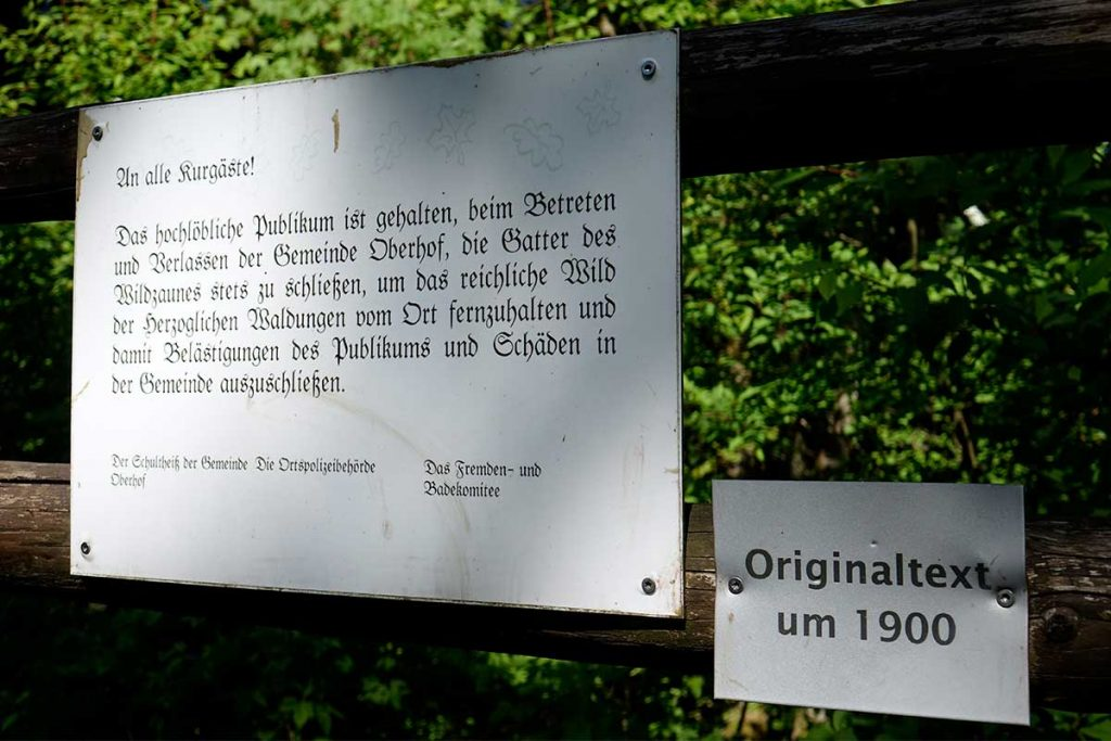Eingang Naturerlebnispfad - Ausflugstipp Hotel Oberhof