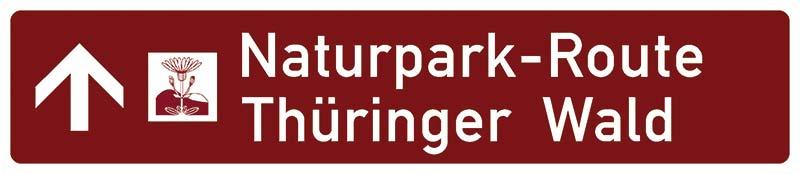 Beschilderung Naturpark Route Thüringer Wald