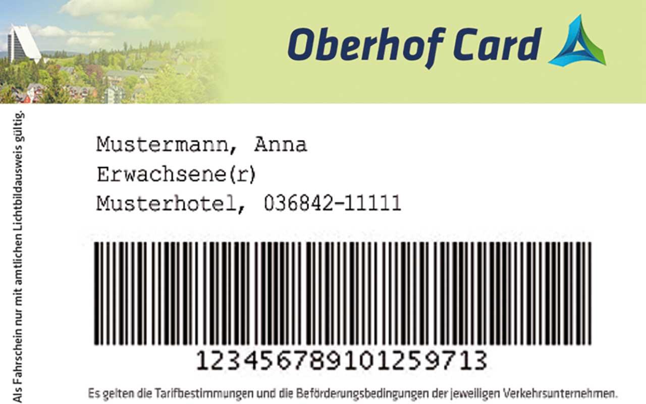 Oberhof Card Muster | Oberhof Hotel Urlaub im Thüringenschanze