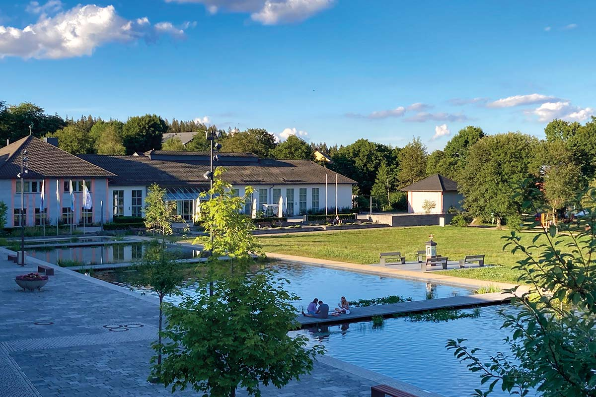 Oberhof, Kurpark im Sommer | Oberhof Hotel Urlaub im Thüringenschanze