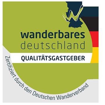 Logo Qualitätsgastgeber Wanderbares Deutschland | Oberhof Hotel Urlaub im Thüringenschanze